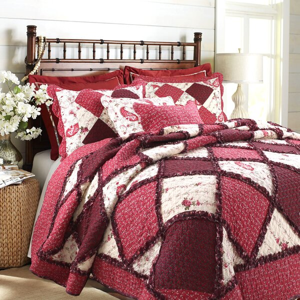 Pineiro 100% Cotton 3 Piece Reversible Quilt Set b